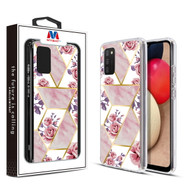 MyBat Fusion Protector Cover for Samsung Galaxy A02s - Electroplated Roses Marbling