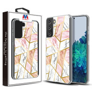 MyBat Fusion Protector Cover for Samsung Galaxy S21 Plus - Electroplated Pink Marbling