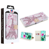 MyBat MyJacket Wallet Diamond Series for Cricket Grand Lg K92 5G - Eiffel Tower