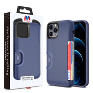 MyBat Slide Series Hybrid Case for Apple iPhone 12 Pro (6.1) / iPhone 12 (6.1) - Dark Blue
