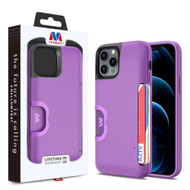 MyBat Slide Series Hybrid Case for Apple iPhone 12 Pro (6.1) / iPhone 12 (6.1) - Dark Purple
