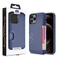 MyBat Slide Series Hybrid Case for Apple iPhone 12 Pro Max (6.7) - Dark Blue