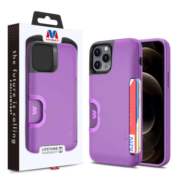 MyBat Slide Series Hybrid Case for Apple iPhone 12 Pro Max (6.7) - Dark Purple
