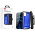 MyBat Pro MyBat Pro Warrior Series Hybrid Case Combo (with Black Holster)(Tempered Glass Screen Protector) for Apple iPhone 12 Pro (6.1) / iPhone 12 (6.1) - Transparent Blue / Black