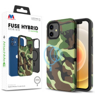 MyBat FUSE HYBRID SERIES + AttachMe with MagSafe Compatible for Apple iPhone 12 mini (5.4) - Classic Camouflage / Black