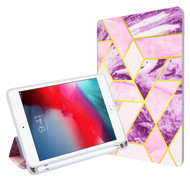 MyBat Slim Fit Smart MyJacket with Trifold Stand for Apple iPad mini 4 (A1538,A1550) / iPad mini (2019) - Purple / Pink Mixed Marbling