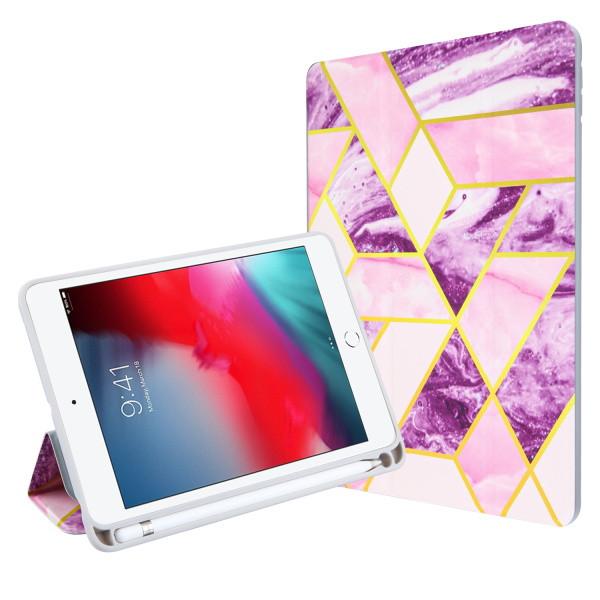 MyBat Slim Fit Smart MyJacket with Trifold Stand for Apple iPad mini 4 (A1538,A1550) / iPad mini (2019) - Purple / Pink Mixed Marbling