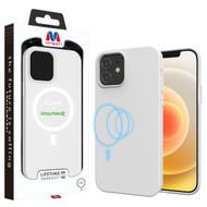MyBat LIQUID SILICONE EDITION Hybrid Case + AttachMe with MagSafe Compatible for Apple iPhone 12 mini (5.4) - White