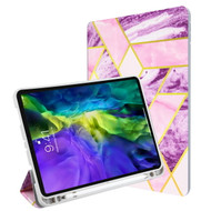 MyBat Slim Fit Smart MyJacket with Trifold Stand for Apple iPad Pro 11 (2020) / iPad Pro 11 (2018) (A1934,A1979,A1980,A2013) - Purple / Pink Mixed Marbling