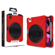 MyBat Rotatable Stand Protector Cover (with Wristband) for Apple iPad Air 10.9 (2020) - Black / Red