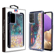 MyBat Quicksand Glitter Hybrid Protector Cover for Samsung Galaxy A32 5G - Dreamcatcher & Gold Stars