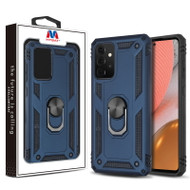 MyBat Anti-Drop Hybrid Protector Case (with Ring Stand) for Samsung Galaxy A72 5G - Ink Blue / Black