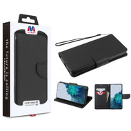 MyBat Liner MyJacket Wallet Crossgrain Series for Samsung Galaxy S21 Plus - Black Pattern / Black