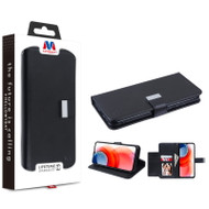MyBat MyJacket Wallet Xtra Series for Motorola Moto G Play (2021) - Black / Black