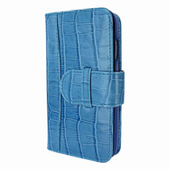 Piel Frama 764 Blue Crocodile WalletMagnum Leather Case for Apple iPhone 7 / 8