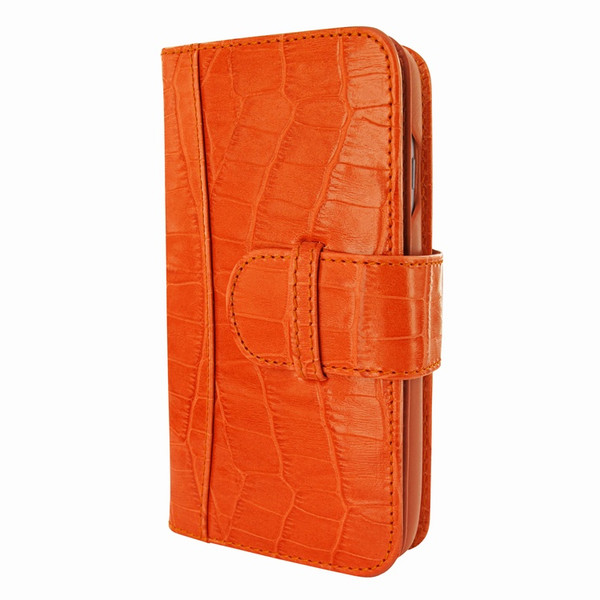 Piel Frama 764 Orange Crocodile WalletMagnum Leather Case for Apple iPhone 7 / 8