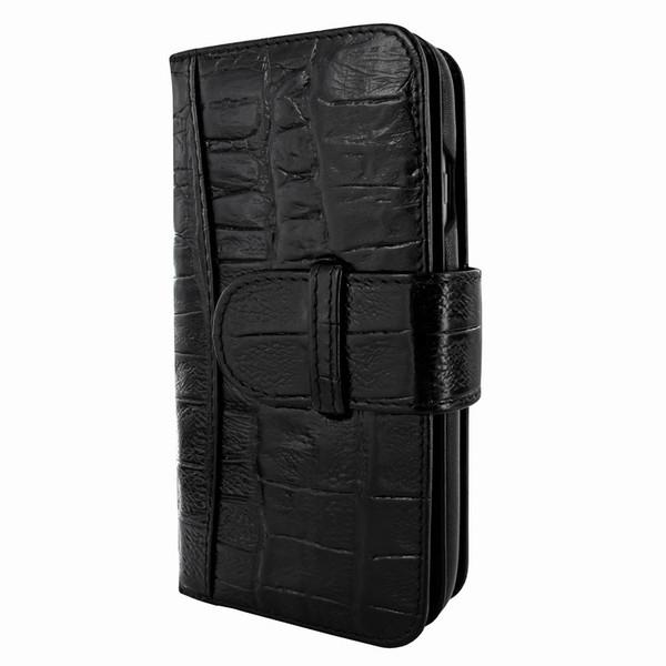 Piel Frama 764 Black Wild Crocodile WalletMagnum Leather Case for Apple iPhone 7 / 8