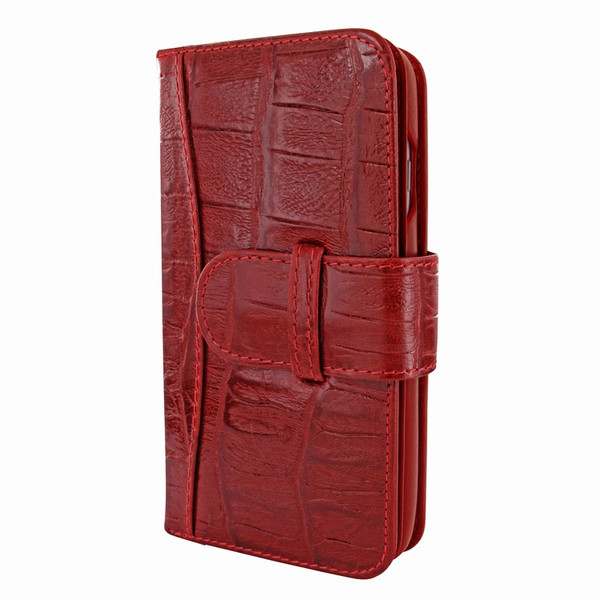 Piel Frama 764 Red Wild Crocodile WalletMagnum Leather Case for Apple iPhone 7 / 8
