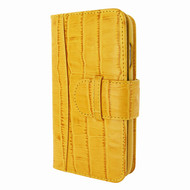 Piel Frama 769 Yellow Crocodile WalletMagnum Leather Case for Apple iPhone 7 Plus / 8 Plus