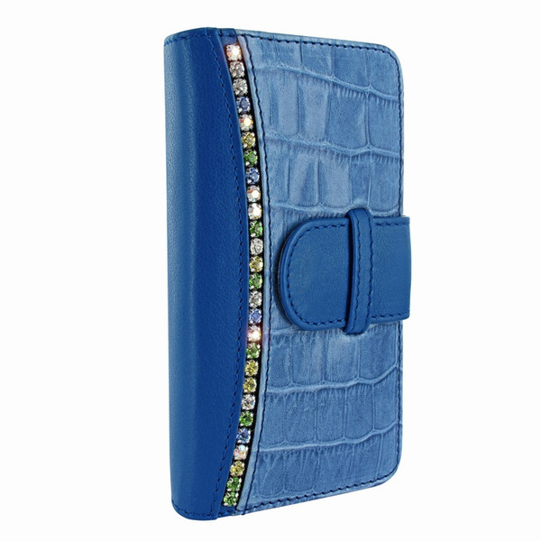 Piel Frama 769 Blue Swarovski Crocodile WalletMagnum Leather Case for Apple iPhone 7 Plus / 8 Plus