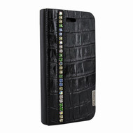 Piel Frama 762 Black Swarovski Crocodile FramaSlimCards Leather Case for Apple iPhone 7 / 8