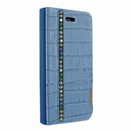 Piel Frama 762 Blue Swarovski Crocodile FramaSlimCards Leather Case for Apple iPhone 7 / 8