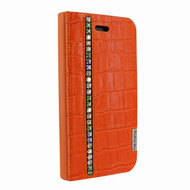 Piel Frama 762 Orange Swarovski Crocodile FramaSlimCards Leather Case for Apple iPhone 7 / 8