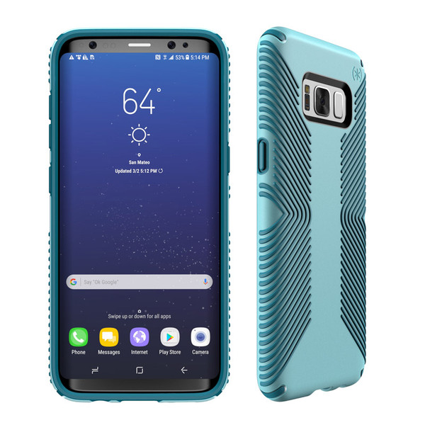 Samsung Galaxy S8 Plus Speck Products Presidio Grip Case - Robin Egg Blue And Tide Blue