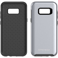 Samsung Galaxy S8 Plus Otterbox Symmetry Metallic Case - Titanium Silver Black And Platinum Metallic Graphic