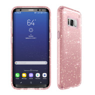 Samsung Galaxy S8 Plus Speck Products Presidio Clear  Glitter Case - Gold Glitter And Rose Pink