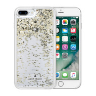 Apple iPhone 6 Plus  /  iPhone 6s Plus  /  iPhone 7 Plus  /  iPhone 8 Plus Incipio Kate Spade New York Liquid Glitter Case - Spades Gold Glitter With Silver And Gold Spades