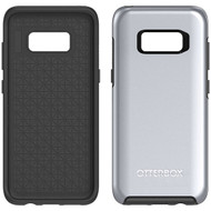 Samsung Galaxy S8 Otterbox Symmetry Metallic Case - Titanium Silver Black And Platinum Metallic Graphic