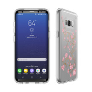 Samsung Galaxy S8 Speck Products Presidio Clear  Print Case - Goldenblossom Pink And Clear
