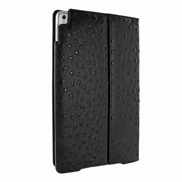 "Piel Frama 786 Black Ostrich Cinema Magnetic Leather Case for Apple iPad Pro 10.5"""