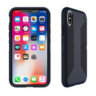 Apple iPhone X Speck Products Presidio Grip Case - Eclipse Blue And Carbon Black