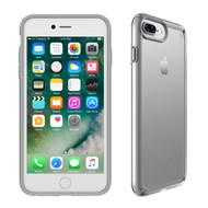 Apple iPhone 6 Plus  /  iPhone 6s Plus   /  iPhone 7 Plus  /  iPhone 8 Plus Speck Products Presidio Show Case - Clear And Sterling Silver