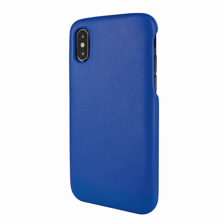 factory authentic 48d06 bf816 Piel Frama 791 Blue FramaSlimGrip Leather Case for Apple iPhone X / Xs
