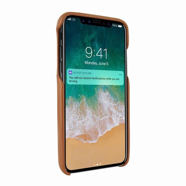 Piel Frama 791 Tan FramaSlimGrip Leather Case for Apple iPhone X