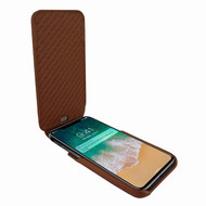 Piel Frama 792 Brown Crocodile iMagnum Leather Case for Apple iPhone X