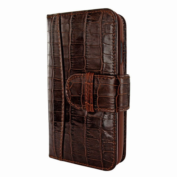 Piel Frama 793 Brown Crocodile WalletMagnum Leather Case for Apple iPhone X / Xs