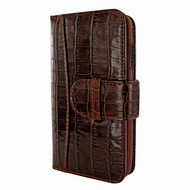 Piel Frama 793 Brown Crocodile WalletMagnum Leather Case for Apple iPhone X