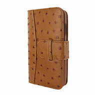 Piel Frama 793 Tan Ostrich WalletMagnum Leather Case for Apple iPhone X / Xs