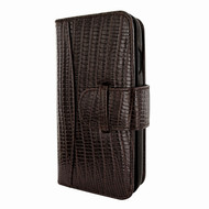 Piel Frama 793 Brown Lizard WalletMagnum Leather Case for Apple iPhone X