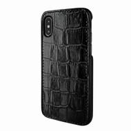 Piel Frama 791 Black Crocodile FramaSlimGrip Leather Case for Apple iPhone X
