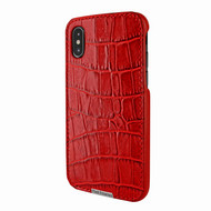 Piel Frama 791 Red Crocodile FramaSlimGrip Leather Case for Apple iPhone X / Xs