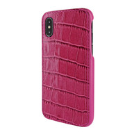 Piel Frama 791 Pink Crocodile FramaSlimGrip Leather Case for Apple iPhone X / Xs
