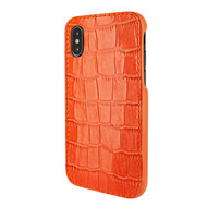 Piel Frama 791 Orange Crocodile FramaSlimGrip Leather Case for Apple iPhone X / Xs