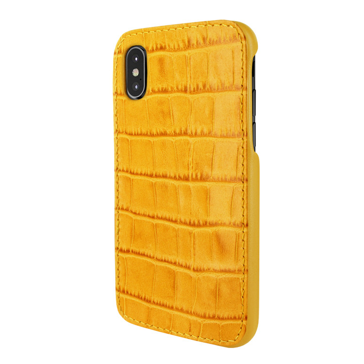 huge selection of 76d60 9960b Piel Frama 791 Yellow Crocodile FramaSlimGrip Leather Case for Apple iPhone  X / Xs