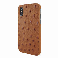 Piel Frama 791 Tan Ostrich FramaSlimGrip Leather Case for Apple iPhone X / Xs
