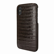 Piel Frama 791 Brown Lizard FramaSlimGrip Leather Case for Apple iPhone X